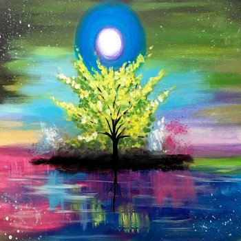Canvas Painting Class on 07/14 at Muse Paintbar Gaithersburg