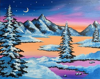 Canvas Painting Class on 01/25 at Muse Paintbar Port Jefferson