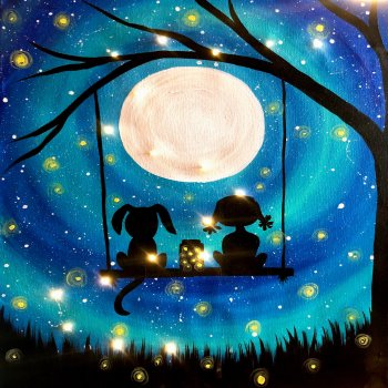 LED Canvas Painting on 03/17 at Muse Paintbar Lynnfield