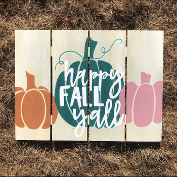 Wooden Sign Painting on 10/14 at Muse Paintbar Fairfax (Mosaic)