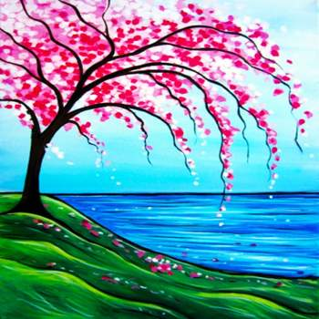 Canvas Painting Class on 03/09 at Muse Paintbar Lynnfield