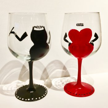 Glassware Painting Event on 02/22 at Muse Paintbar Hingham Shipyard