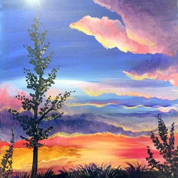 Canvas Painting Class on 03/19 at Muse Paintbar Providence