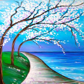 Canvas Painting Class on 06/25 at Muse Paintbar Patriot Place