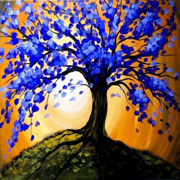 Canvas Painting Class on 10/29 at Muse Paintbar Patriot Place