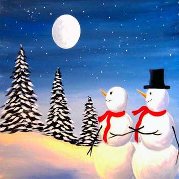Canvas Painting Class on 12/29 at Muse Paintbar Lynnfield