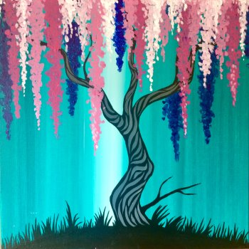 Canvas Painting Class on 10/29 at Muse Paintbar Fairfax (Mosaic)