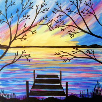 Canvas Painting Class on 03/07 at Muse Paintbar Glastonbury