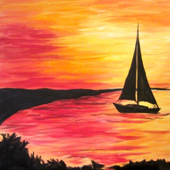 Canvas Painting Class on 07/22 at Muse Paintbar Fairfax (Mosaic)