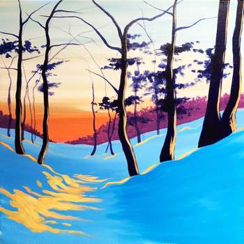 Canvas Painting Class on 12/10 at Muse Paintbar Lynnfield