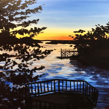 Canvas Painting Class on 08/04 at Muse Paintbar Gainesville