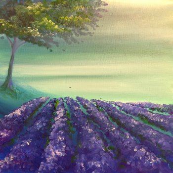 Canvas Painting Class on 08/29 at Muse Paintbar Norwalk