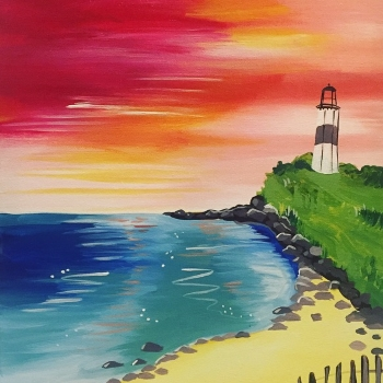 Canvas Painting Class on 05/09 at Muse Paintbar Glastonbury