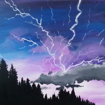 Canvas Painting Class on 10/04 at Muse Paintbar Gaithersburg