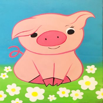 Kids Painting Class on 03/09 at Muse Paintbar Lynnfield