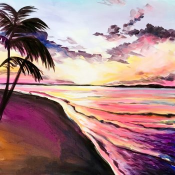 Canvas Painting Class on 07/16 at Muse Paintbar West Hartford