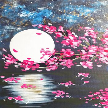 Canvas Painting Class on 02/24 at Muse Paintbar Richmond