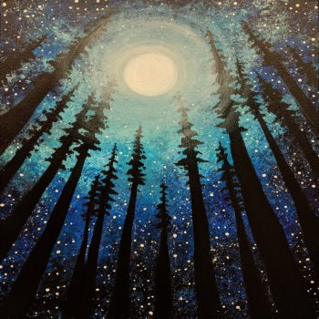 Canvas Painting Class on 02/17 at Muse Paintbar Glastonbury
