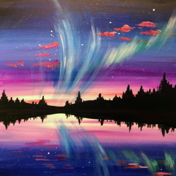 Canvas Painting Class on 10/19 at Muse Paintbar Patriot Place