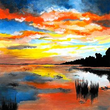Canvas Painting Class on 02/03 at Muse Paintbar Woodbridge