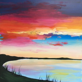 Canvas Painting Class on 03/02 at Muse Paintbar Fairfax (Mosaic)