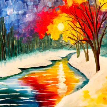 Canvas Painting Class on 12/15 at Muse Paintbar Patriot Place