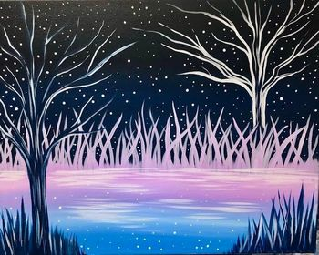 Canvas Painting Class on 11/02 at Muse Paintbar NYC - Tribeca