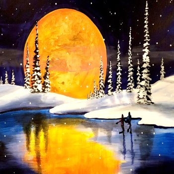 Canvas Painting Class on 01/10 at Muse Paintbar Woodbury