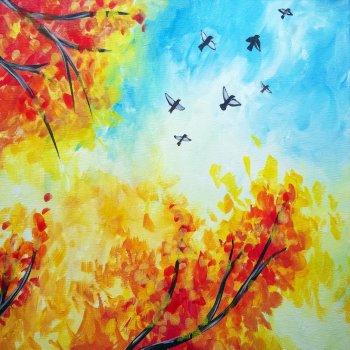 Canvas Painting Class on 10/10 at Muse Paintbar Norwalk