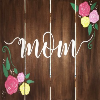 Wooden Sign Painting on 05/11 at Muse Paintbar West Hartford