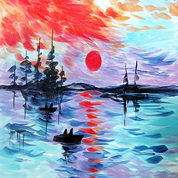 Canvas Painting Class on 07/15 at Muse Paintbar Fairfax (Mosaic)