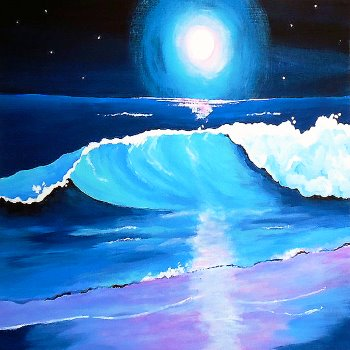 Canvas Painting Class on 08/30 at Muse Paintbar Norwalk