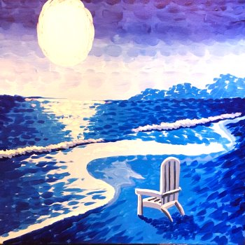 Canvas Painting Class on 08/25 at Muse Paintbar Portland
