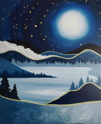 Canvas Painting Class on 12/19 at Muse Paintbar Port Jefferson