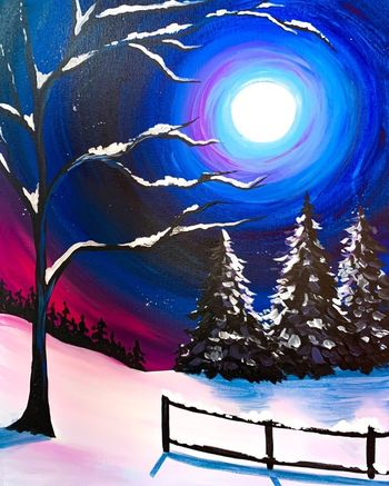 Canvas Painting Class on 12/09 at Muse Paintbar Portland