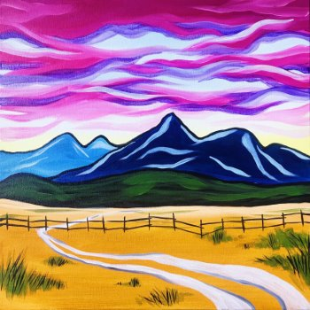 Canvas Painting Class on 02/13 at Muse Paintbar Patriot Place