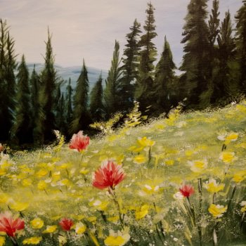 Canvas Painting Class on 10/23 at Muse Paintbar Fairfax (Mosaic)