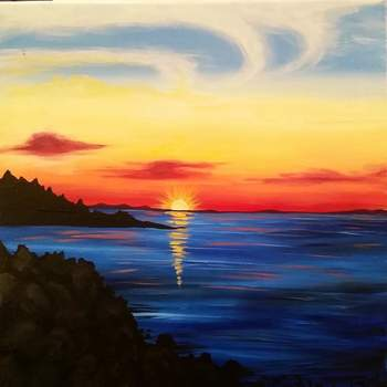 Canvas Painting Class on 07/28 at Muse Paintbar Portland