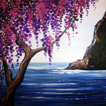 Canvas Painting Class on 08/19 at Muse Paintbar Portland
