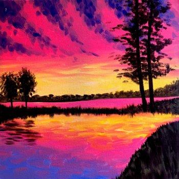 Canvas Painting Class on 08/24 at Muse Paintbar Gaithersburg