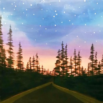 Canvas Painting Class on 10/14 at Muse Paintbar Patriot Place
