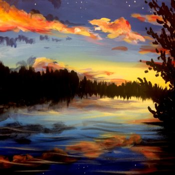 Canvas Painting Class on 02/21 at Muse Paintbar Hingham Shipyard
