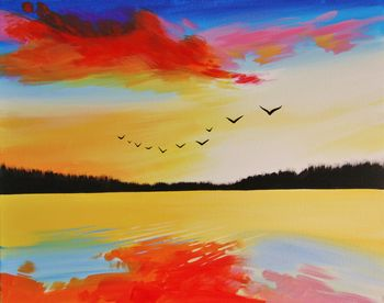 Canvas Painting Class on 11/05 at Muse Paintbar NYC - Tribeca