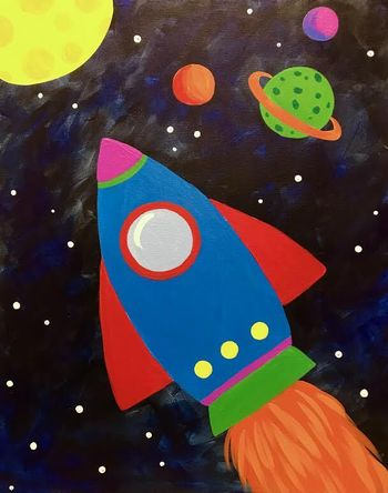 Kids Painting Class on 02/22 at Muse Paintbar Port Jefferson