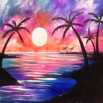 Canvas Painting Class on 06/28 at Muse Paintbar Patriot Place
