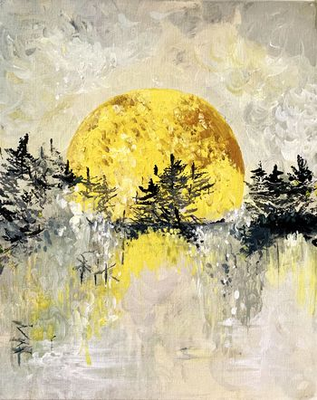 Canvas Painting Class on 02/19 at Muse Paintbar Glastonbury