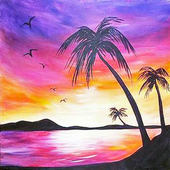 Canvas Painting Class on 04/27 at Muse Paintbar West Hartford