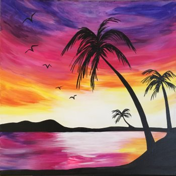 Canvas Painting Class on 06/25 at Muse Paintbar Norwalk