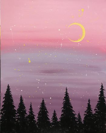 Canvas Painting Class on 03/18 at Muse Paintbar Portland