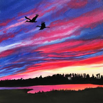 Canvas Painting Class on 11/06 at Muse Paintbar Lynnfield